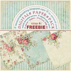 Free  Printable vintage papers