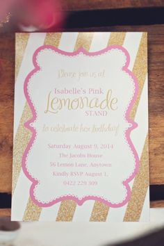 An Adorable Pink Lemonade themed birthday party