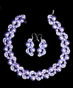 Free pattern for necklace Incanto  I like the earrings