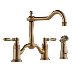 View the Brizo 62536LF High-Arc Bridge Kitchen Faucet with Side Spray from the Tresa Collection at FaucetDirect.com.