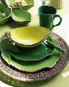 Green dish for home