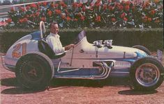 """This one has to be my favorite. It was built around 1961 at the Indianapolis Motor Speedway garages by the late Lujie Lesovsky for Elmer George, Tony George's father. He later sold it to A.J. Foyt who is pictured in it. It ran as the Traco Special. The car was purchased from Foyt by Frank Wagner of St. Paul, MN and was driven by Jerry Richert and Jerry """"Scratch"""" Daniels, among others."""