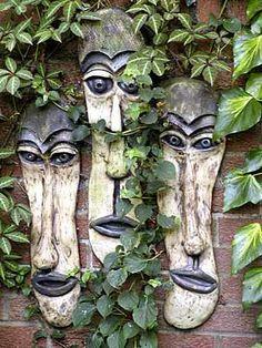 Stoneware Masks by Chrissie Harten