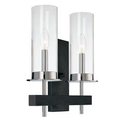 View the Sonneman 4062 Tuxedo 2 Light Wall Sconce with Glass Shade at LightingDirect.com.