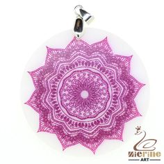 STONE  NECKLACE Color PAINTING MANDALA PENDANT WHITE GEMSTONE PENDANT BEAEDS ZL6 #ZL #Pendant