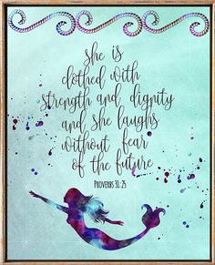 Nursery bible verses She is clothed in strength and dignity        bibleverse# bibleverseprint #christianart #christiandecor #instantdownload #HomeDecor #Printable #WallArt #PrintableArt  bibleverseprint #christianart #scriptureprint #scripturedecor #scriptureposter #christiandeco#