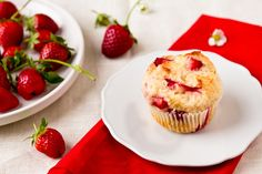 Strawberry Muffins by foodiebride, via Flickr    With all the fresh strawberries we have from Dad's garden...these are going to be made. Yum!