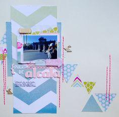 Puerta de Acalá by @macaliu peña at @Studio_Calico #doubleScoopScrapbookkit