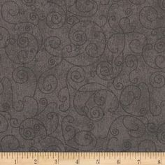 """110"""" Wide Quilt Back Flannel Willow Grey"""