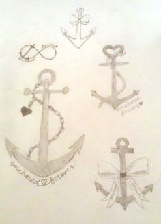 Anchors. I like the one with the heart for my tattoo