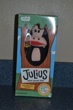 Julius Plush Paul Frank Monkey NIB Tree Fort Playset  2003 #3S #PaulFrank