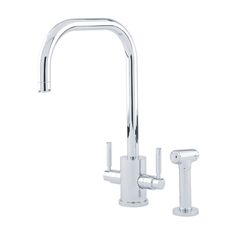 4314 Perrin & Rowe Orbiq Monobloc Sink Mixer Tap U Spout Lever Handles and Rinse Sink Mixer Taps, Quality Kitchens, Kitchen Taps, Kitchen Collection, Plumbing Fixtures, Modern Classic, Chrome, Handle