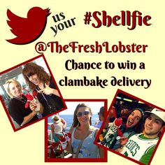 Tweet your #Shellfie to @TheFreshLobster - enter to win a clambake delivery.  How about a #clambake for your next College Event?  We have special #college menu pricing and incentives: https://www.clambakeco.com/naca