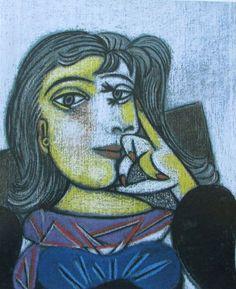 Bildnis Dora Maar PABLO PICASSO Kunstdruck Reproduktion Surrealismus Kunst