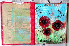 Image result for art collage journal flowers