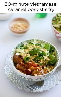 30-minute vietnamese caramel pork stir fry.