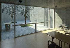 Interior courtyard 3d view