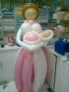 BABY SHOWER~Mom & baby balloon art