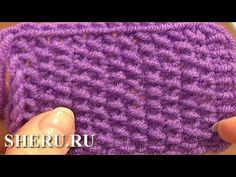 Knitting Stitches Patterns  Урок 2 Жемчужный узор спицами