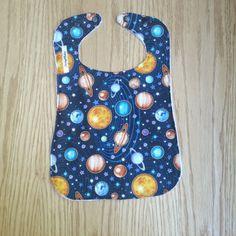 Toddler Bib - Planets - Solar System - Baby Bib - Baby Shower Gift - Drool Bib - Baby Accessories - Teething Bib- Dinner Bib - Handmade by Sewing4Babies on Etsy
