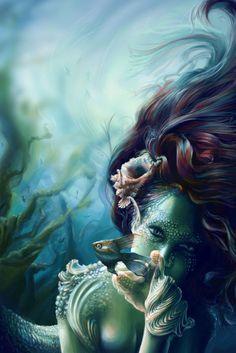 The Mermaid stare