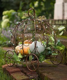 Look what I found on #zulily! Light-Up Pumpkin Carriage Garden Planter by Plow & Hearth #zulilyfinds