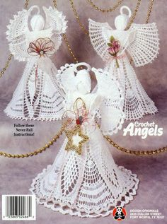 CROCHET ANGELS - Maria Vai Com AS Artes Neia Reis - Picasa Web Albums...ONLINE BOOK WITH WRITTEN PATTERNS FOR SOME,AND OTHERS HAVE DIAGRAMS!!