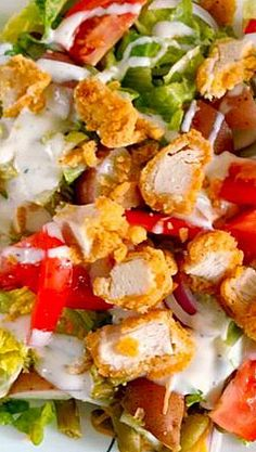 fried chicken salad more chicken salad 123 11