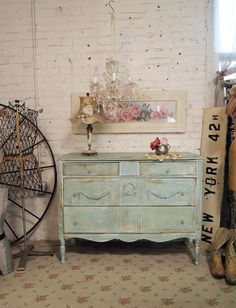 Painted Cottage Shabby Aqua Vintage Dresser by paintedcottages from paintedcottages on Etsy. Saved to For the Home. White Furniture, Cheap Furniture, Online Furniture, Painted Furniture, Discount Furniture, Furniture Plans, Shabby Chic Farmhouse, Shabby Cottage, Blue Dresser
