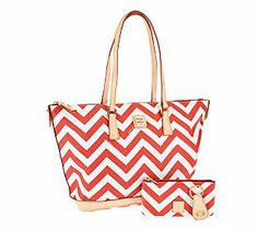Dooney & Bourke Coated Cotton Chevron Tote w/ Accessories in several colors for $189.96 until Feb 9,2014.