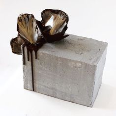 Psyched to make this concrete cake for a very cool client. #concrete #concretecake #squarecake