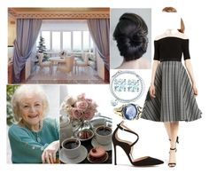 """""""Having coffee with her grandmother Regina in the Blue Balcony Room at Hofburg Palace"""" by eiraofaustria ❤ liked on Polyvore featuring Tiffany & Co., Stephen Webster and Gianvito Rossi"""