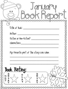Book Report Freebie + other Pinterest January favorites