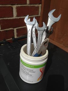 No:23 - use your old #herbalife container as a trendy toolbox - ideal if you're…