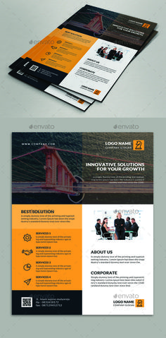 Corporate Flyer Design Template - Corporate Flyer Template PSD. Download here: https://graphicriver.net/item/corporate-flyer/17429069?ref=yinkira