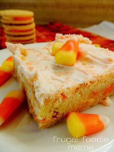 Frosted Candy Corn Oreo Cookie Bars