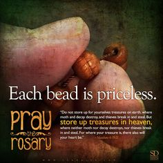Love Our Lady and help others to love her. Always recite the rosary. Rosary Quotes, Rosary Prayer, Praying The Rosary, Holy Rosary, Catholic Quotes, Rosary Catholic, Catholic Prayers, Catholic Saints, Catholic Art