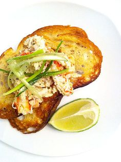 crab bruschetta}
