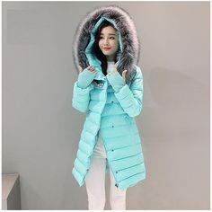 2335eded1bed Snow Diamond 2017 Rhinestones Thick Warm Winter Jacket Women's Fur Hooded  Parka Women Cotton Padded Female Jacket Winter Coat-in Parkas from Women's  ...
