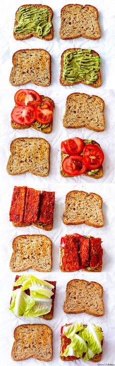 Who ever said vegans couldn't enjoy a BLT? #Vegan BLT made with avocado and tempeh bacon! #lunch #meatlessmonday