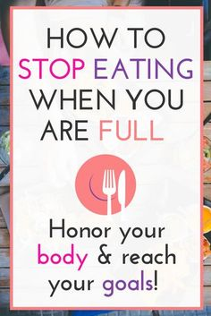 We all know we should stop eating when we are no longer hungry or bored but how do you know when you are full? No weight loss diet teaches you what it means to quit eating when you are satisfied! These tips will help you tune into your body so that you ca Weight Loss Meals, Quick Weight Loss Tips, Losing Weight Tips, Fast Weight Loss, Weight Loss Program, How To Lose Weight Fast, Weight Gain, Reduce Weight, Nutrition Education