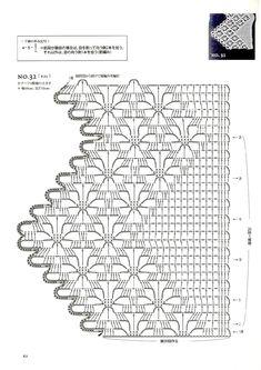 Мобильный LiveInternet 50 Crocheted Motifs and 22 Works. Filet Crochet, Crochet Doily Diagram, Crochet Lace Edging, Crochet Borders, Crochet Stitches Patterns, Crochet Shawl, Crochet Doilies, Crochet Yarn, Knitting Yarn