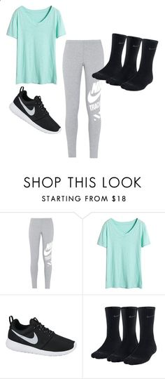 Skyzone Outfit by mayaleigh1 ❤ liked on Polyvore featuring NIKE