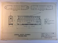 A personal favourite from my Etsy shop https://www.etsy.com/au/listing/386054152/vintage-london-tram-car-blueprint