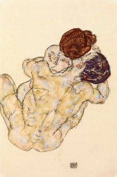 "Egon Schiele, ""Man and Woman"", 1917 http://bit.ly/1lDLOMy"