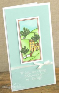 Blooming Blessings Card by Nichole Heady for Papertrey Ink (March 2013)