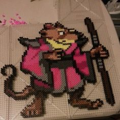 TMNT Master Splinter perler beads by khaozmaverick