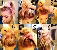 High Bun Tutorials: Messy bun how to