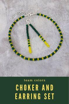 Long Tassel Football Jewelry for Women Team Spirit Wear College Game Day Tassel Necklace