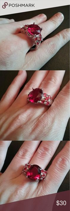 Ruby size 10 marked 925 ring Brand new Jewelry Rings